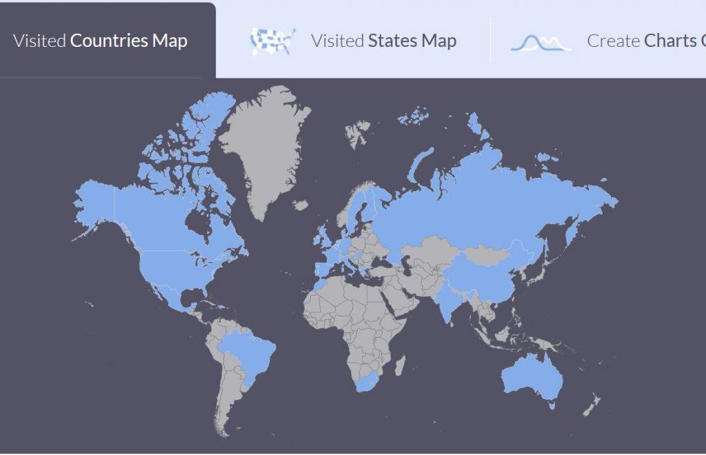 como crear mapas de tus viajes realizados