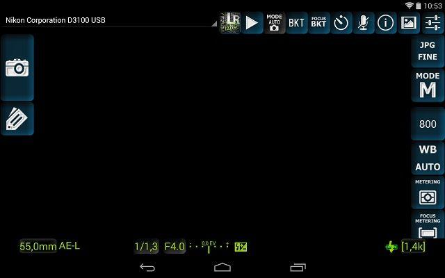 controlar una cámara réflex con una tablet DslrDashboard