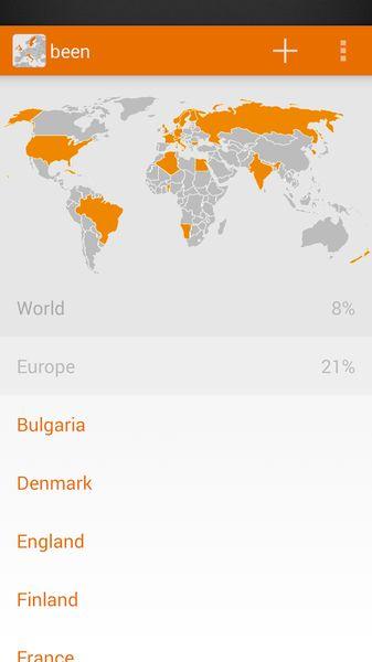 been mapa de paises visitados