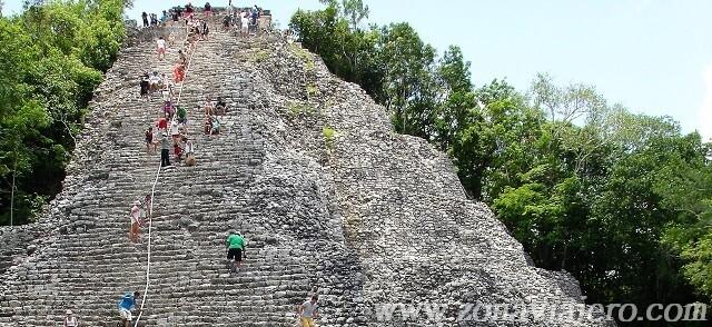 ruinas mayas ciudad de coba mexico