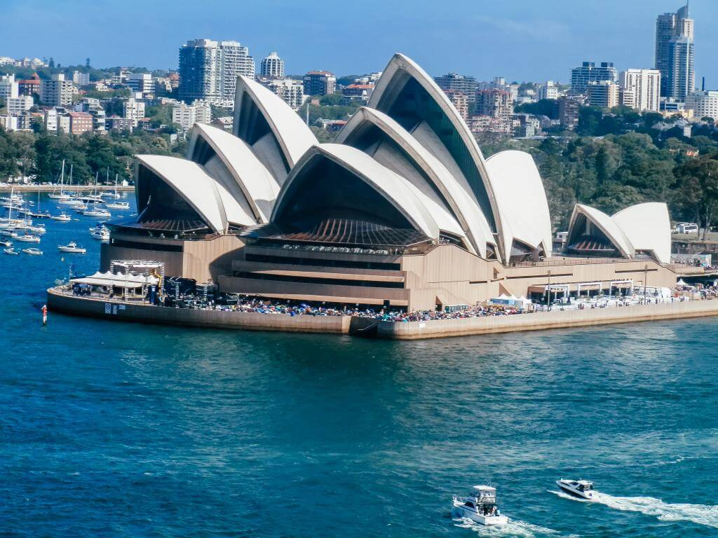 Opera house desde harbor bridge