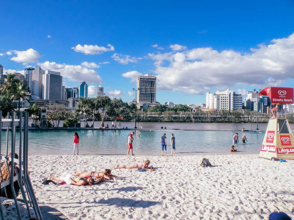playa artificial de Brisbane