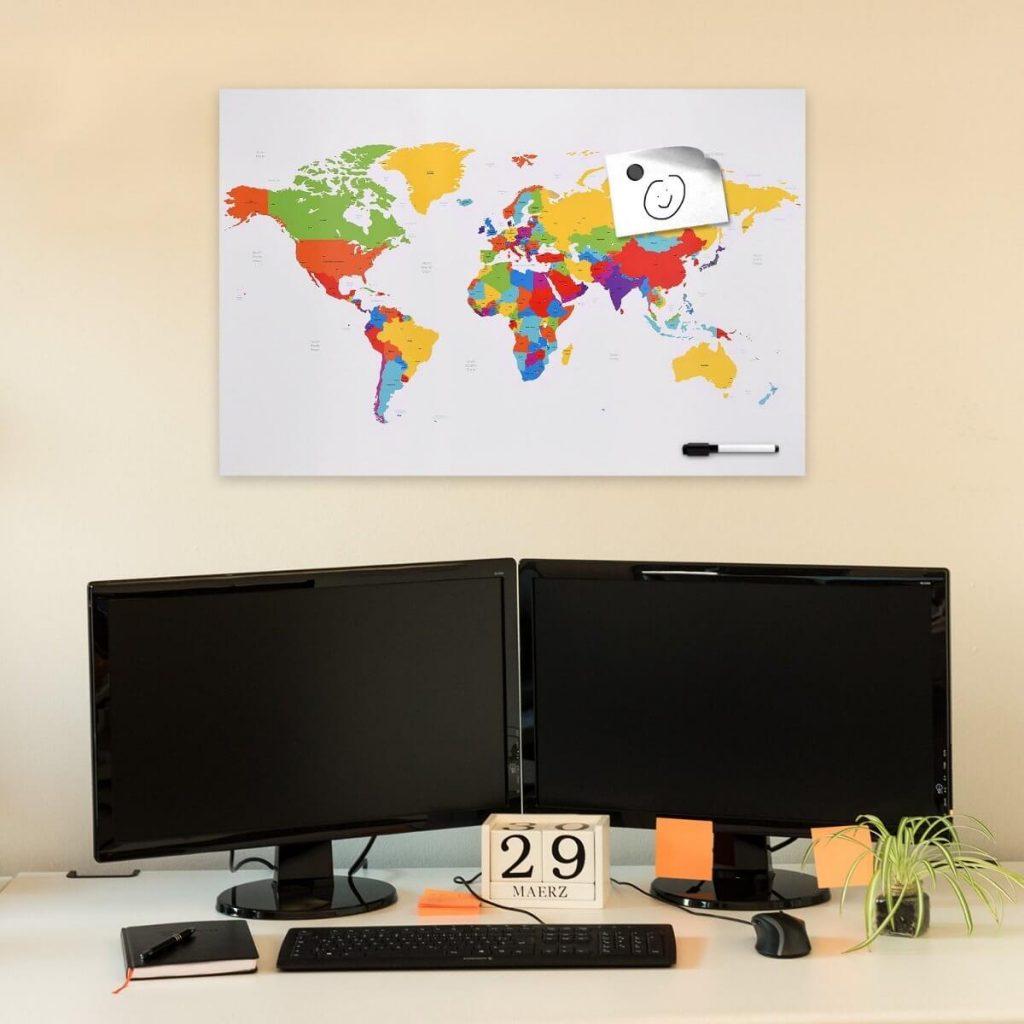 mapa magetico para marcar paises