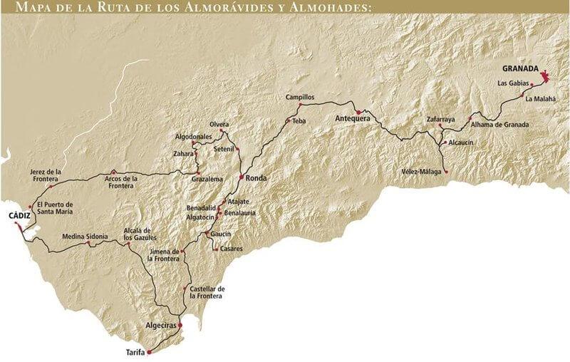 mapa road trip andalucia