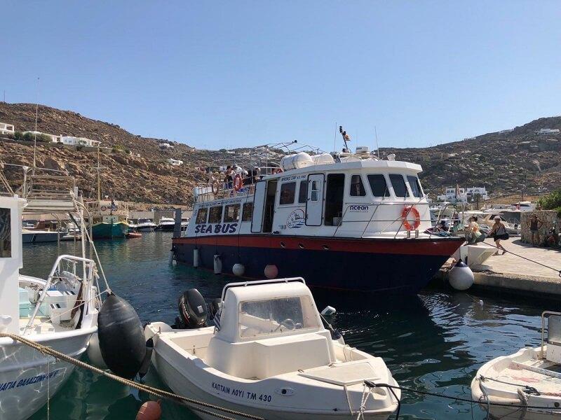 como llegar a mykonos desde el puerto