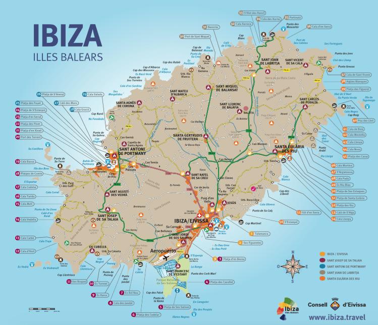mapa calas ibiza